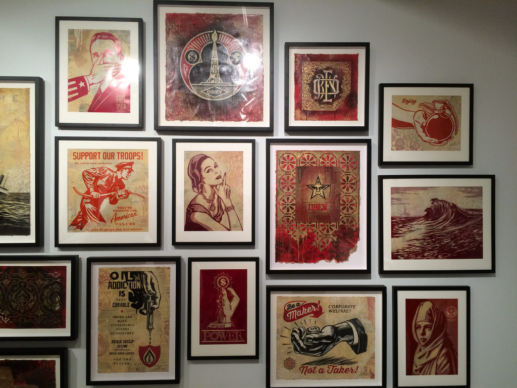 Shepard Fairey at Jacob Lewis Gallery Photos by Daniel Weintraub