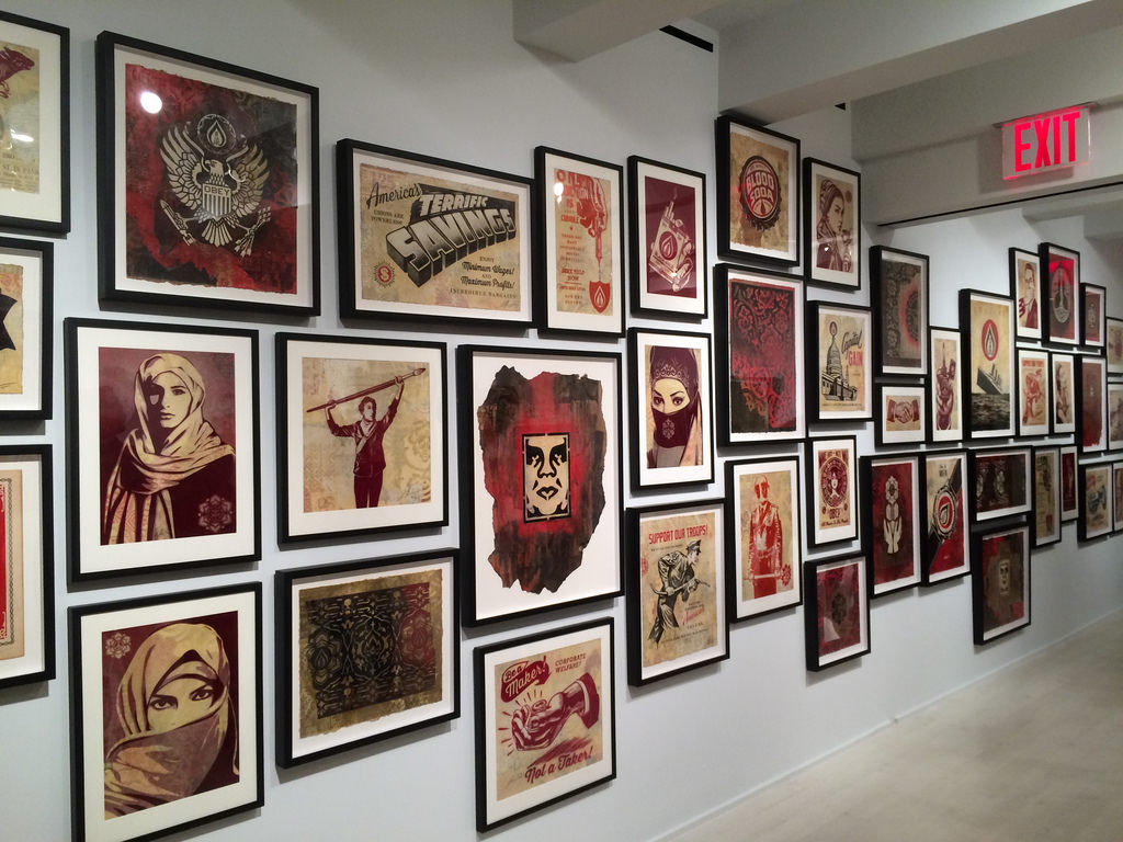 Shepard Fairey at Jacob Lewis Gallery.