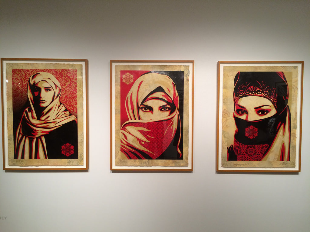 Shepard Fairey Editions with Pace Prints.