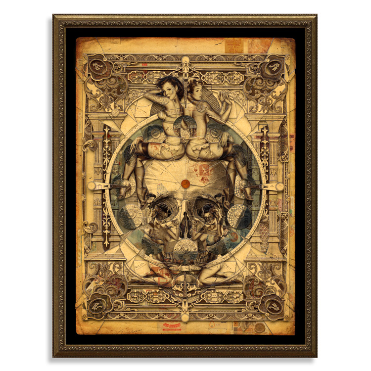 Parallax - 18 x 24 Edition With Custom Ornate Frame by Handiedan - Click For More Info