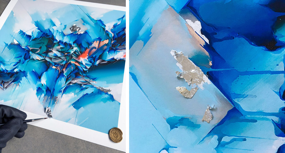 Dreamlike - Silver Foil Hand-Embellished Edition by Does