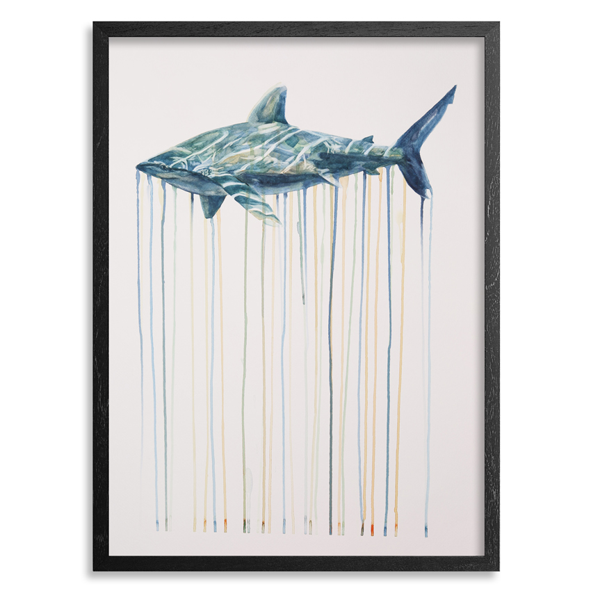 Oceanic Whitetip by Kai'ili Kaulukukui - Original Artwork - Click To Purchase