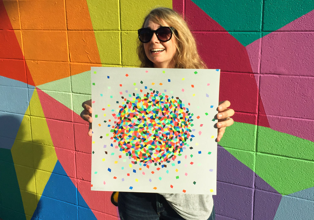 Clound Confetti + Original Artwork by Kristin Farr - Click //////to Purchase