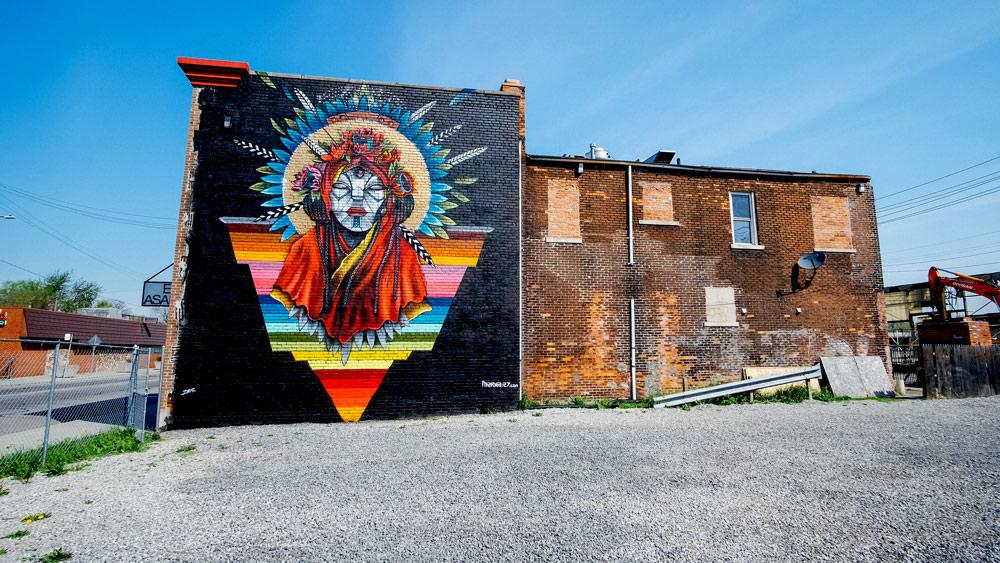 Inner State - Fifty24MX Southwest Detroit Marka27 Art Mural