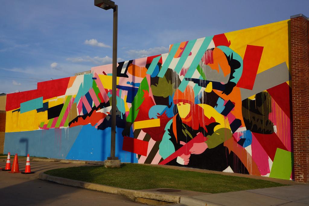 Maser's finished mural.