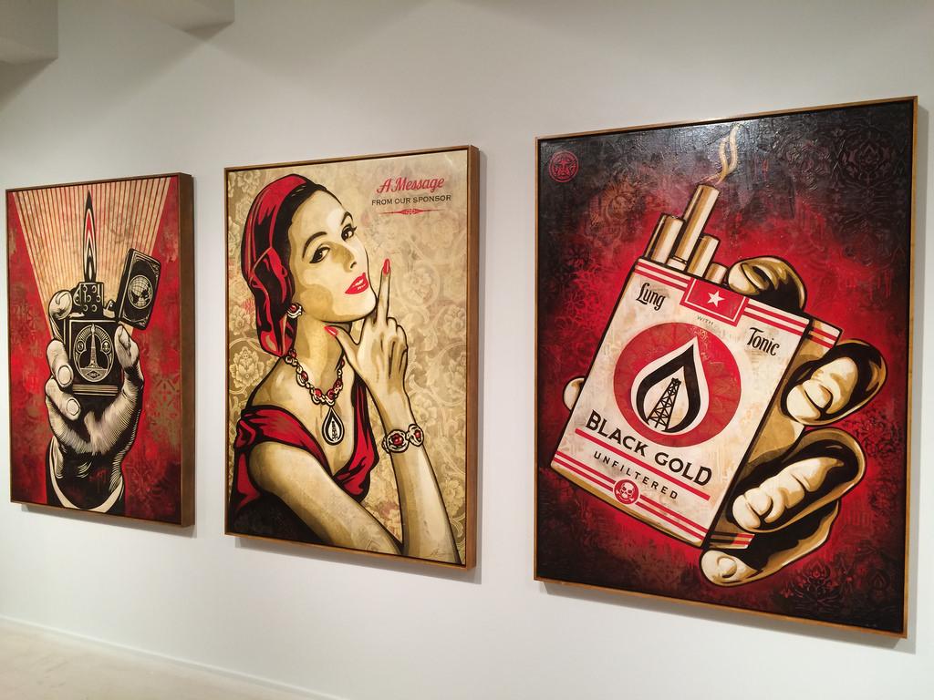 Shepard Fairey at Jacob Lewis Gallery - Photos by Daniel Weintraub