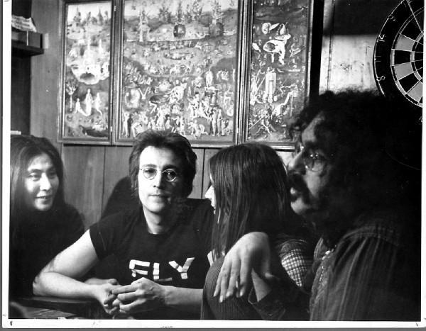 Yoko Ono, John Lennon, Leni and John Sinclair